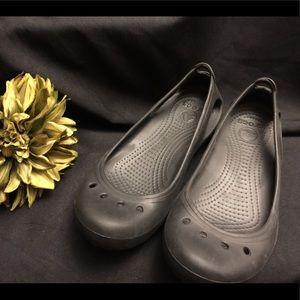 CROCS-Black, Flats Size:9, Women's